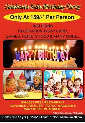 Celebrate with us with fun with must I with foodddd - by Pomo's Pizza - Unlimited With Fun., Ahmedabad