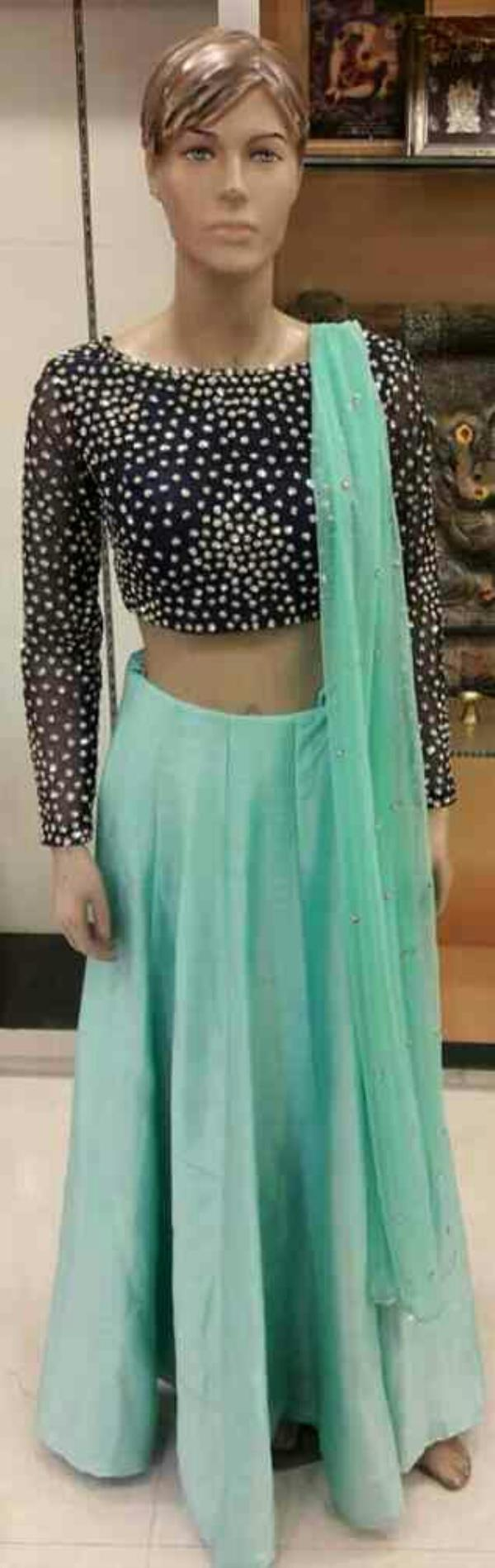 Get the latest trendy Crop top Skirts, jhalak, designer wear showroom . - by Jhalak, Vadodara