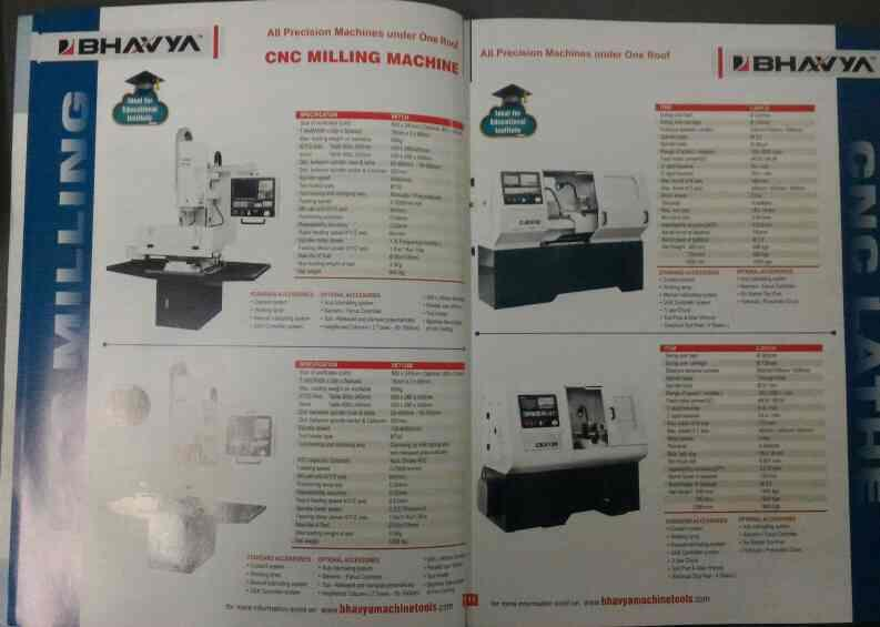 CNC Milling Machine : Ideal for educational institutes  - by BHAVYA MACHINE TOOLS , Ahmedabad