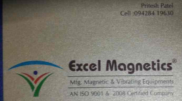plz contact for magnetic equipment in Ahmedabad  - by Excel Magnetics, Ahmedabad