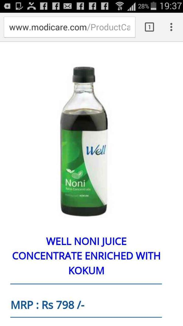 Noni juice with kokum.. Best for weight reduction, enhance immunity & good for digestive health  - by FOOD SUPPLEMENTS, Amritsar