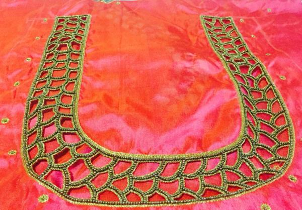 Cut work (blouse ) #handwork #embroidery  - by VI VI MOTIFS MADURAI, Madurai