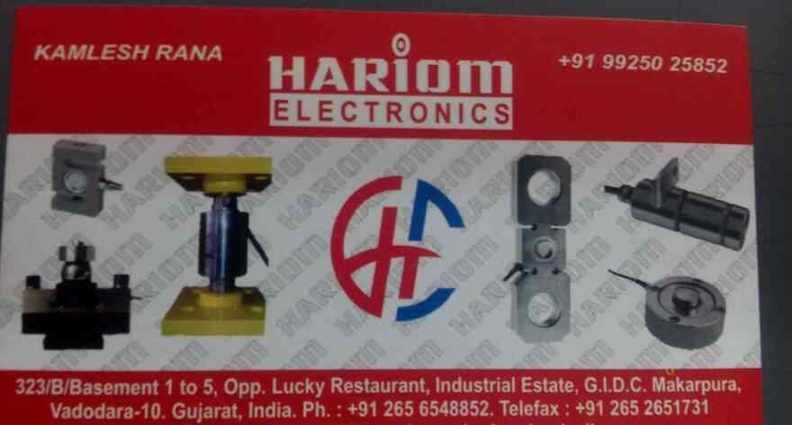 we are manufacturer of load cell censor of weight machine located on makarpura Vadodara   - by Hariom Electronics, Vadodara
