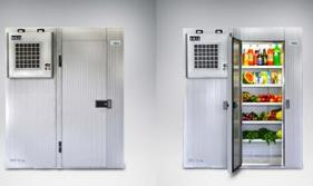 PreServa-N is a compact walk-in-freezer with adjustable racks for freeze storing items such as vegetables, medicines, seafood and meat, as well as milk and dairy products for prolonged periods. - by Sukavach Containers LLP, Ahmedabad
