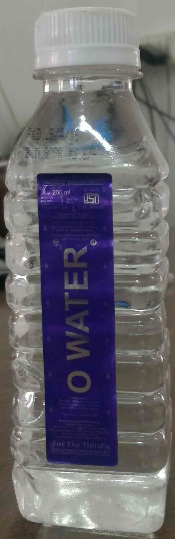 200 ml packaged drinking water. O water is best quality water suppliers in Ahmedabad . 100% pure water  - by Nilkanth Beverages, Ahmedabad