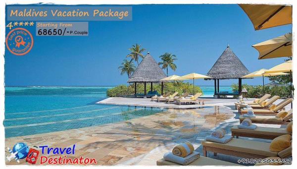 Maldives-----4 Star  Paradise Island Resort ----Starting From 68650/-   Inclusions :  * Accommodation with Half Board  * Return Transfers (Speed Boat)- SIC - by Travel Destinaton, Indore