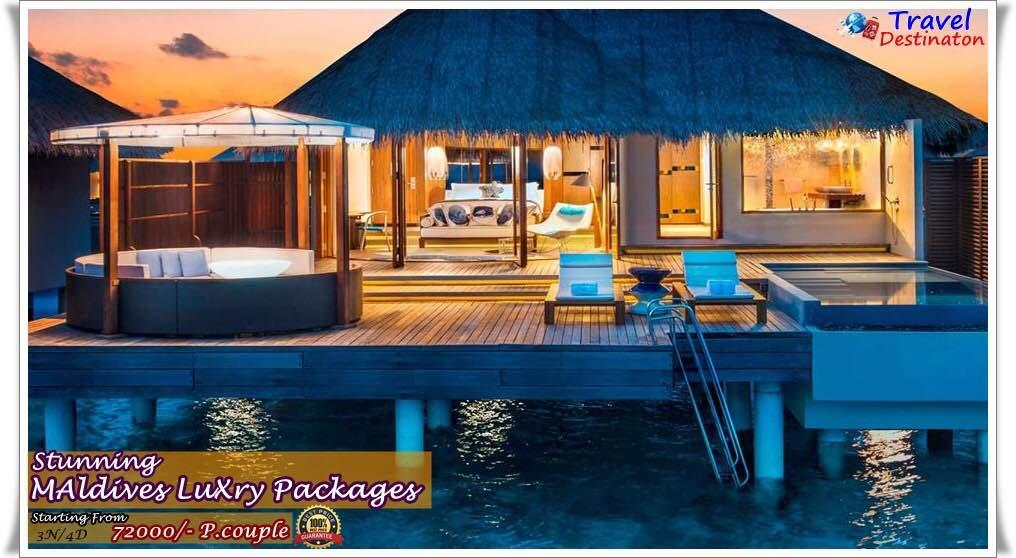 Stunning Maldives Luxry packages Starting From--72000/-Per couple                    Inclusions :  * Accommodation with Half Board  * Return Transfers (Domestic Flight + Speed Boat)- SIC - by Travel Destinaton, Indore