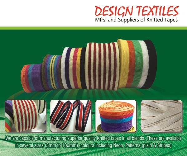 We are Knitted Tape Manufacturers in India  Knitted Tapes Manufacturers in Tirupur  We are Tape Manufacturing company and we manufacture Knitted Tapes in Tamilnadu  Cotton Tapes Manufacturers in Tirupur   - by Design Textiles - Tape Manufacturers & Suppliers, Rope Manufacturers, Knitted Tape Manufacturers in Tirupur, Tiruppur