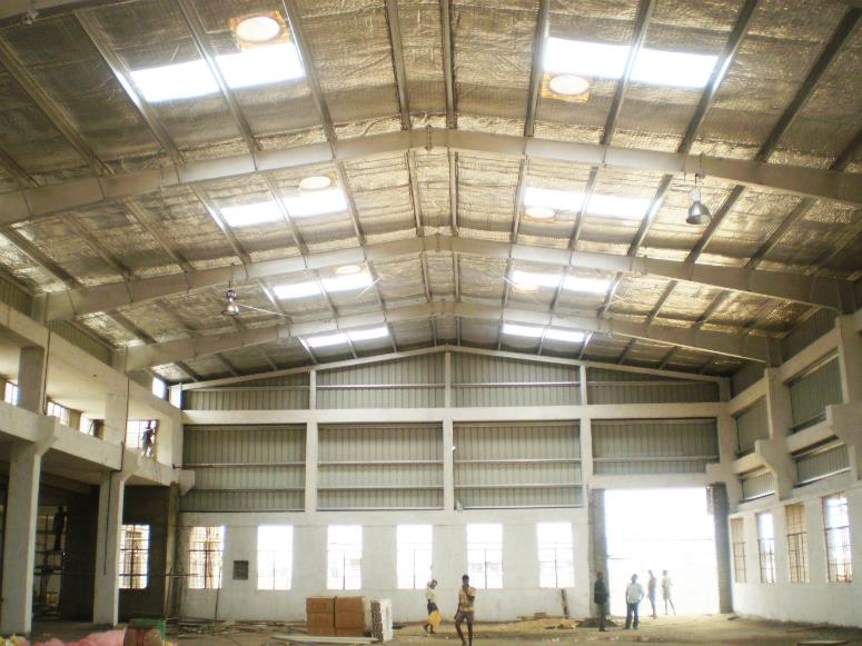 single skin sheet roofing in chennai  AS Single-Skin Steel Cladding roof and wall systems consist of coated steel sheets rolled to five different profiles; they may be used to form roofs – down to 4 degree pitch (6 degree if rooflights and  - by ROOTS FABS Pvt Ltd, Chennai