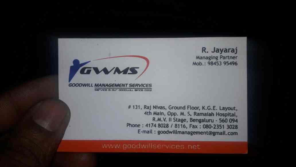 housekeeping services in bangalore - by Goodwill Management Services, Bengaluru