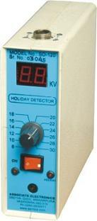 "Digital Holiday Detector Model SD - 120  A Preventive coating is applied to the surface from preventing corrosion. In coating a puncture may be due to manufacturing process or any other reason. The damage in this coating is called ""HOLIDAY"" - by Associate Electronics, Vadodara"