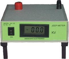 Jeep Meter Model JM-120  ASSOCIATE ELECTRONICS offers Jeep Meter for testing the output voltages of ASSOCIATE ELECTRONICS make Holiday Detector SD-120.    The output voltages of Holiday Detector gets affected by many reasons, e.g. Battery,  - by Associate Electronics, Vadodara