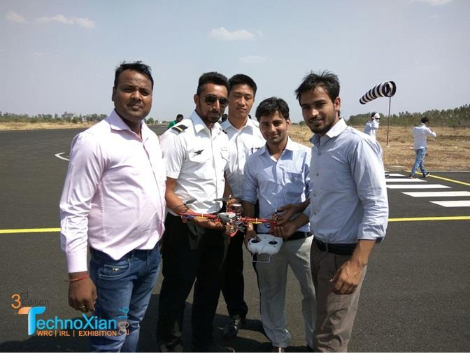TechnoXian IRL organized Aero modelling and Quad Copter workshop at Guna Airport - by Technoxian, New Delhi