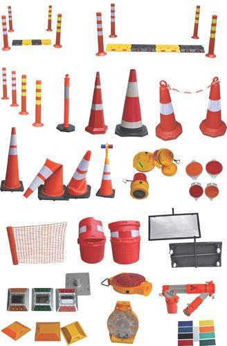 ROAD SAFETY EQUIPMENTS  We deal with PVC Safety Cones, Reflecting Jackets/Tapes, Signal Batons, PVC Chains, Barricading Tapes, Studs (Reflecting), Zebra Marking Tapes