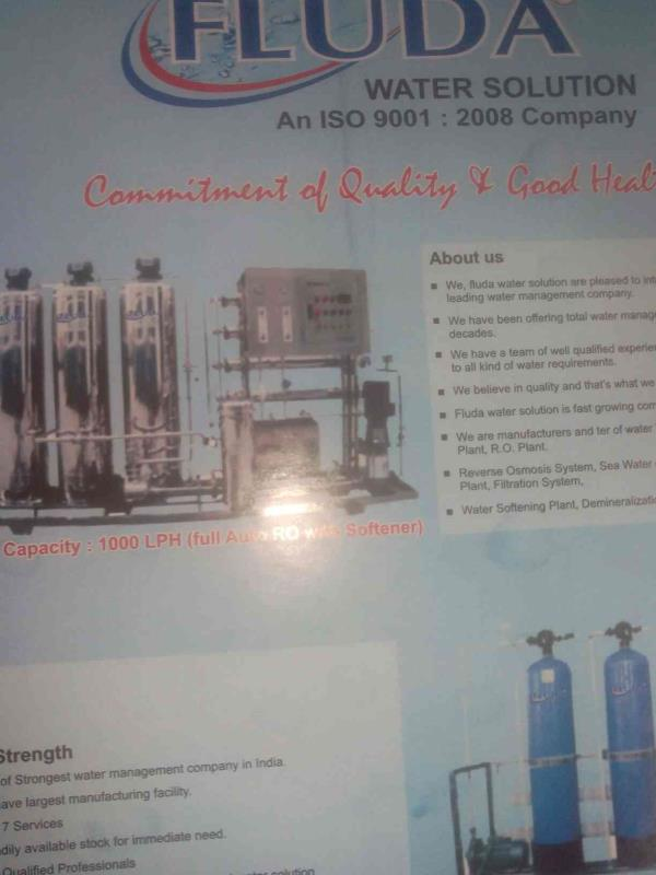 We are one of the leading supplier in gujarat for all kinds of water treatment services. - by Fluda Water Solution, Ahmedabd