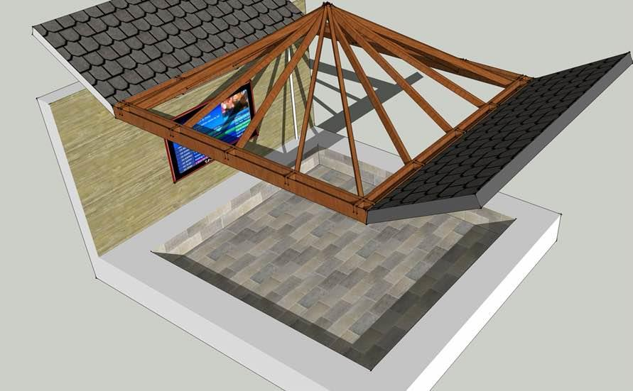 Special designed roof above dining area  - by DEE DESIGN, Ahmedabad