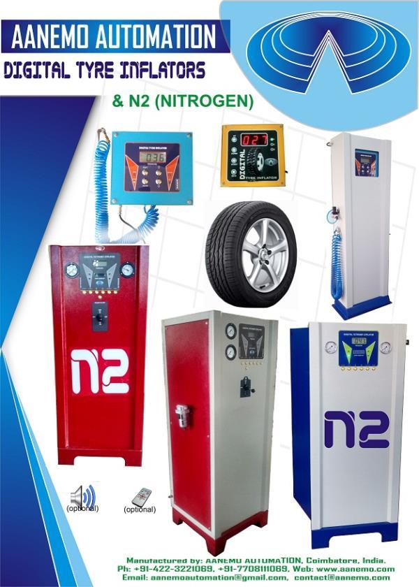 N2 Tyre Inflator In Coimbatore, N2 Generator Manufacturer In Coimbatore,  - by Aanemo, Coimbatore