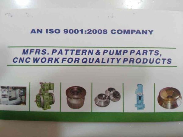 we also manufacturer of pattern and pump parts, cnc work for quality products in ahmedabad.   - by Harihar Pattern Industry, Ahmedabad