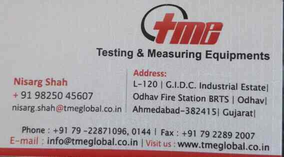 we importer of measuring equipments - by Testing And Measuring Equipments, Ahmedabad