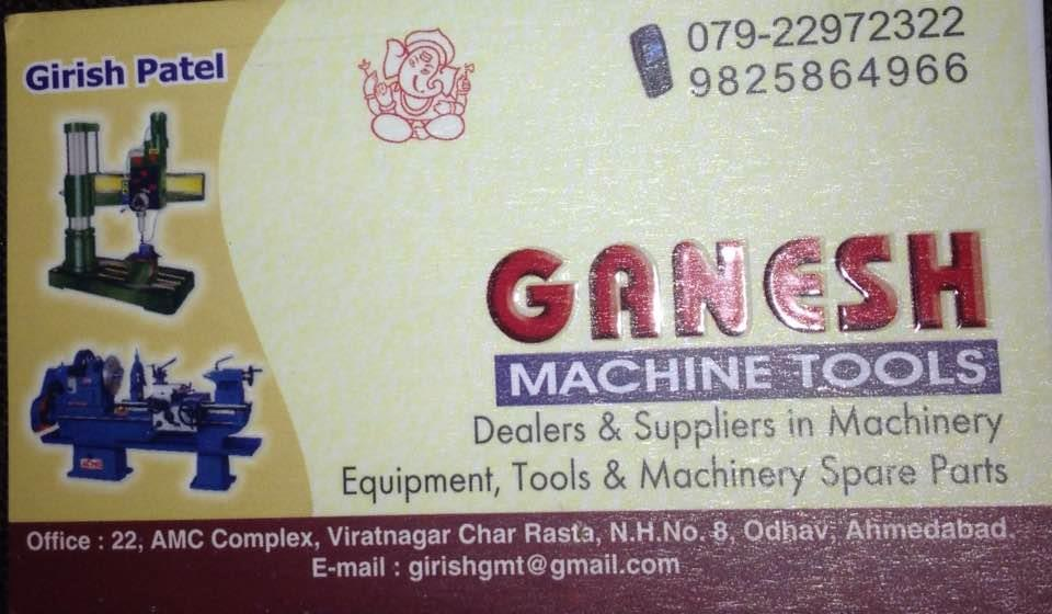 Dealers and suppliers in machinery tools and equipment in Ahmedabad  - by Ganesh Machine Tools, Ahmedabad