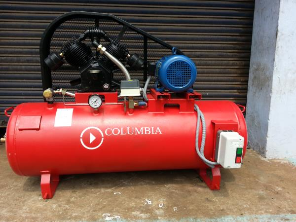 Single stage double cylinder 3hp air compressor. Using for Industrial Air Compressor.    - by Columbia Air Compressors, Coimbatore