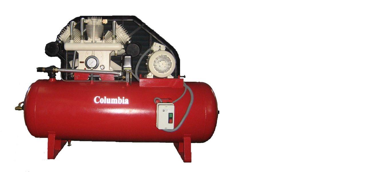 Two Stage Air Compressor Model: CTS 100 10hp air compressor. using in heavy industrial areas - by Columbia Air Compressors, Coimbatore
