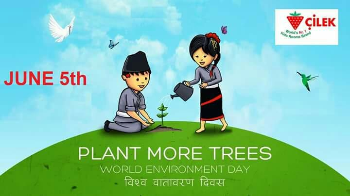 Happy World Environment day. Take  a pledge to plant more trees.  - by KK Enterprise, Rajkot