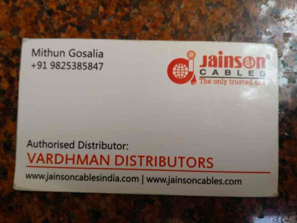 stock available for all type of cables. - by Vardhman Distributors, Ahmedabad