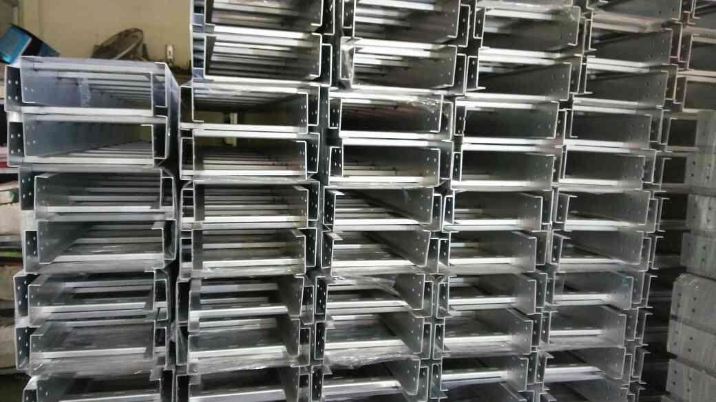 Hot dip galvanized cable trays in makarpura, Vadodara. - by M.M. Engineering Works, Vadodara