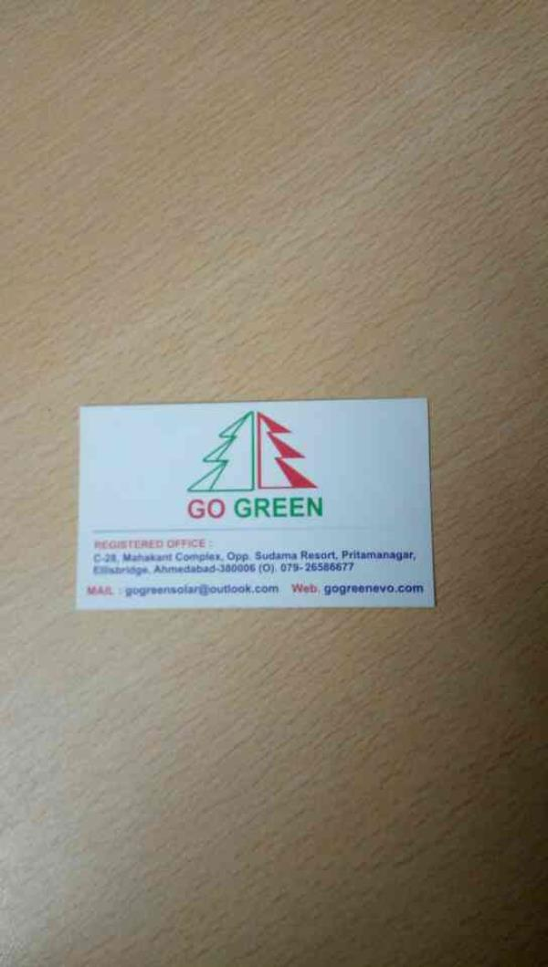 We Go Green Evolutionary Solutions India Pvt.Ltd provides various projects like solar power generation plants and all solar products. - by GO GREEN SOLAR, Ahmedabad