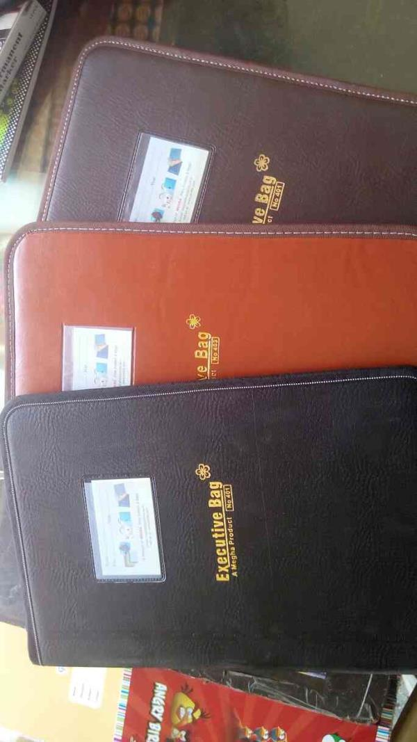 we are dealing in executive bag/ file in different shade and sizes, 10-20 up to 50 folders Vadodara, Gujarat. - by Siddhi Enterprise, Vadodara