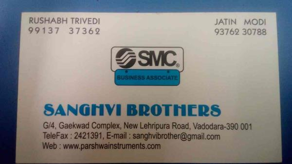 we are one the leading distributor of SMC pneumatics and baumer technologies - by Sanghvi Brothers, Vadodara