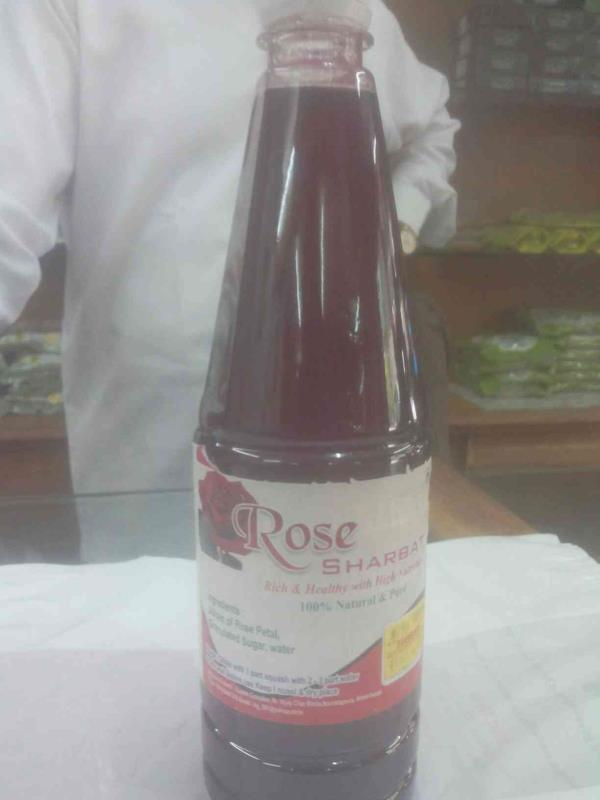 We also provide best quality of rose sharbat in  750 ml As per customers requirements we can also have in big packages of one litre. - by Evergreen Dry Fruits, Ahmedabd