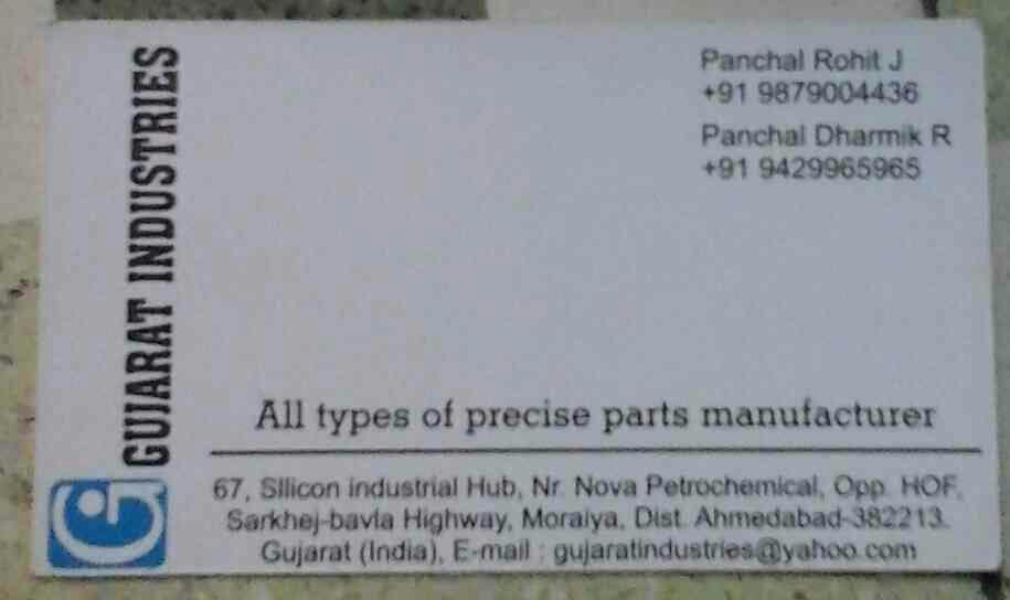 Manufacturer of Turned Parts like Bolt in Gujarat - by Gujarat Industries, Ahmedabad