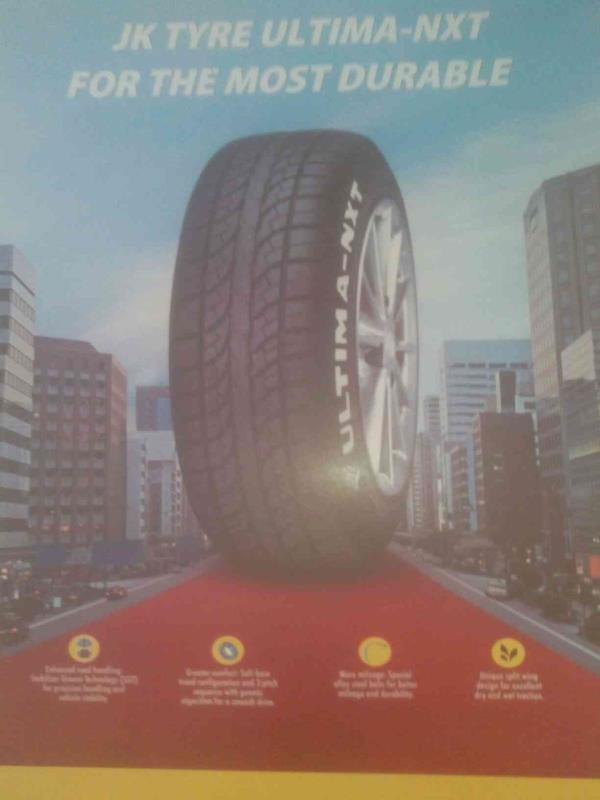 We have the range of tyres with a very best quality and with a garuntee .  The brand of jk tyres are one of the pioneer. - by Metro Tyres, Ahmedabd