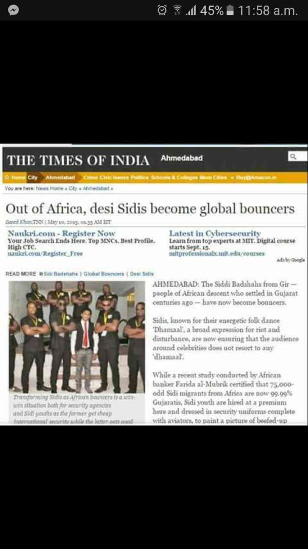 The biggest ACHIVEMENT for KHAKI SECURITY SERVICES PVT LTD to be in Times of India - by Khaki Security Services Pvt Ltd, Ahmedabad