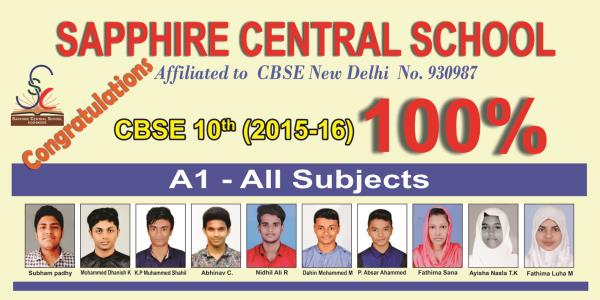 Our Toppers - by Sapphire Central School, Calicut