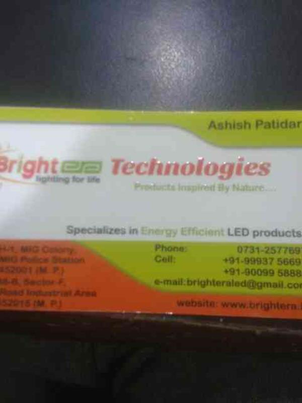 we provide the led solution and also provide solar product - by Bright Era Technologies, Indore
