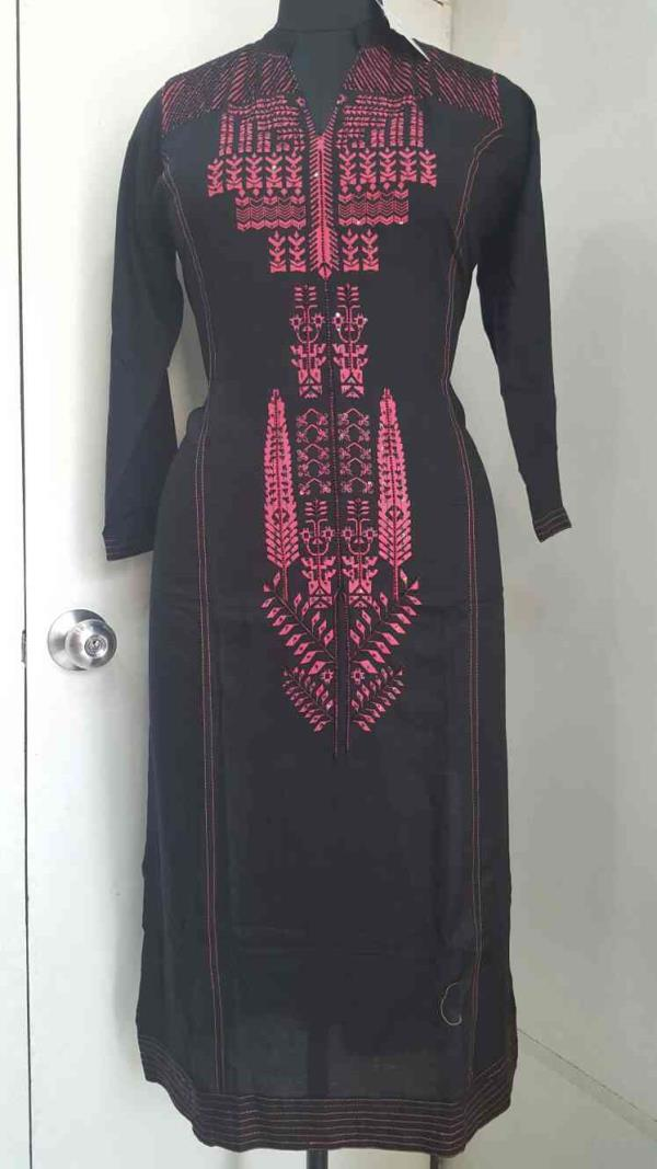 rayon hand embroidered kurta  - by Gagandeep Collection, New Delhi