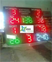 Cricket Scoreboards  Features:  Maintain pace with the game Accurate Displays all aspects of the game   Specifications:  Operating voltage: 100-275V A.C., 50/ 60 Hertz. View angle: more than 120 degree. View distance: 200 mtr.  - by Unab Technologies Pvt Ltd, Coimbatore
