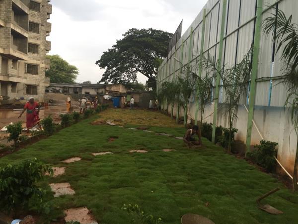 Springwoods development work - Garden. Kanakpura Main Road, Bangalore, before NICE corridor.  Contact: 8088 415 415.  - by SN  Ventures, Bangalorr