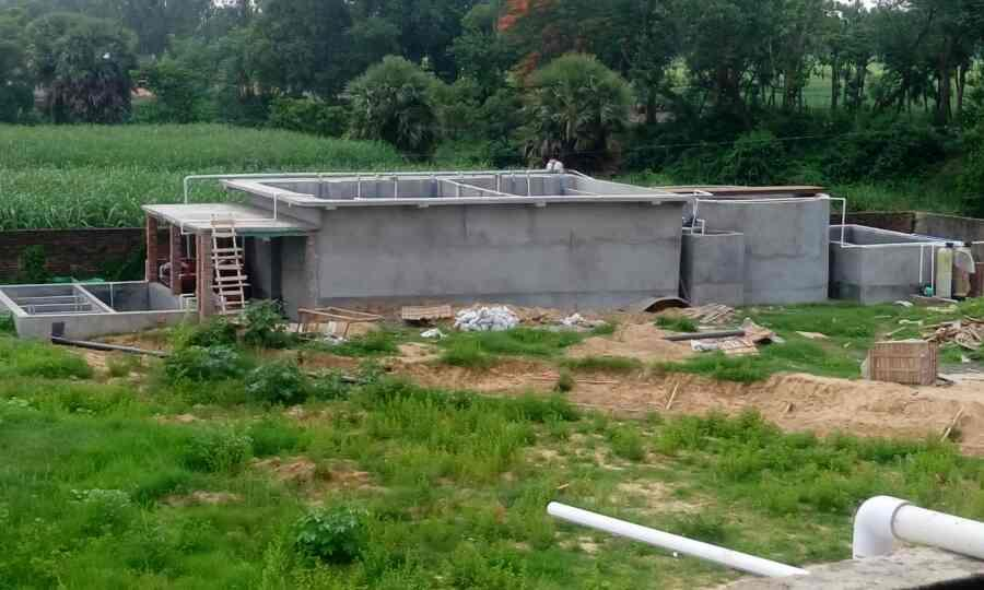 ETP for Dairy unit under construction  - by Enviro Research, Barrackpore