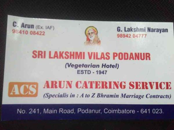 sri Lakshmi Vilas podanur 241podanurmain road podanur cbe 23 - by Sri Lakshmi Vilas Podanur, Podanur Main Road Coimbatore