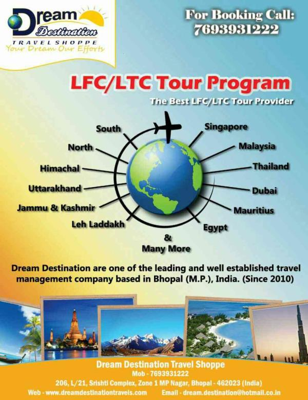 We are domestic & international tour operator in bhopal. - by Dream Destination Travel , Bhopal