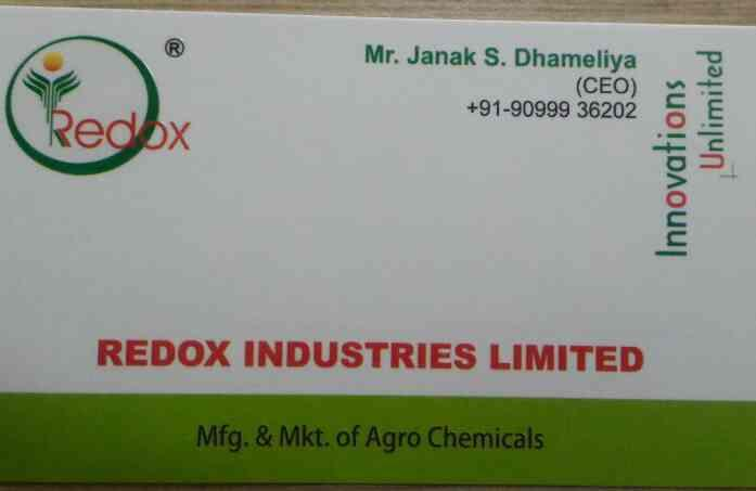 Plz contact for agro chemicals products. We provide best quality material.   www.redoxindustriesltd.com - by REDOX INDUSTRIES LIMITED , Ahmedabad