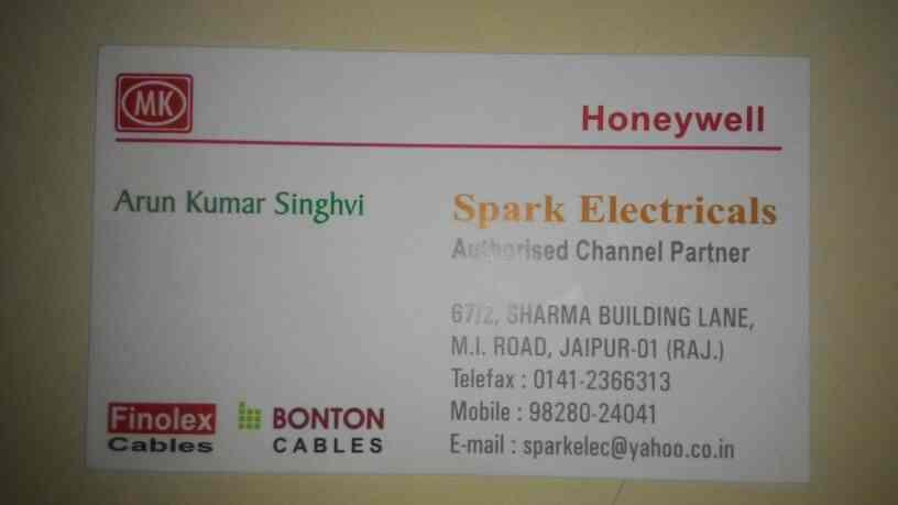 ELECTRICALS COMPLETE RANGE WIRE CABLES SWITCHES ETC.LL - by Spark ELECTRICALS, Jaipur
