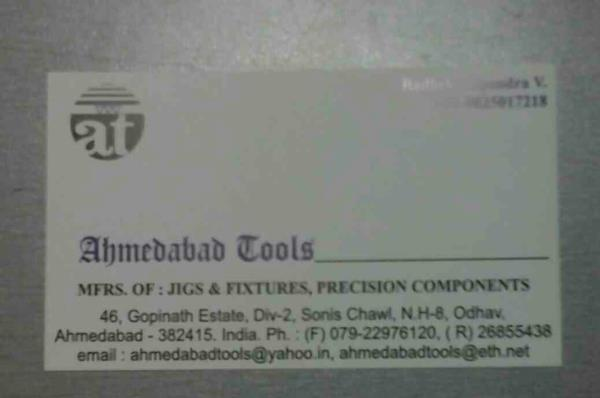 We had vast experience in Tools Industry manufacturing different types of jigs, fixtures & precision components in Ahmedabad. - by Ahmedabad Tools, Ahmedabad
