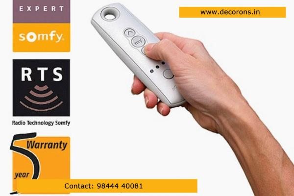 Dealers in SOMFY curtain and Blind Motors in Bangalore - by Decorons Trinity, Bangalore
