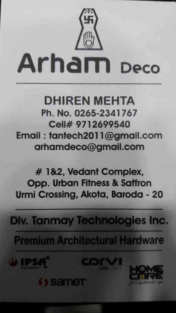 Premium architectural hardware in Vadodara, Gujarat. - by Arham Deco, Vadodara