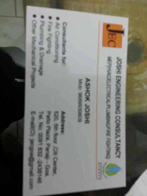 Best mep consultancy. - by Joshi Engineering consultancy , Panaji